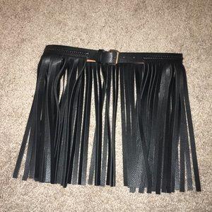 BGBGMaxazria leather fringe belt